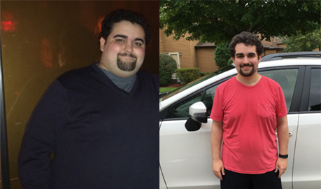 Evan Lost 110 pounds in a year!