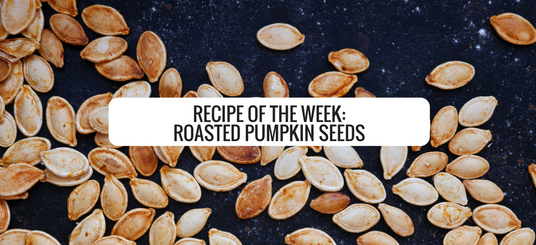 Main image for Recipe of the Week: Perfectly Roasted Pumpkin Seeds blog post.