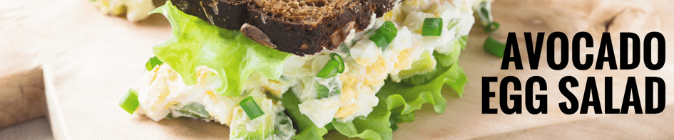 Main image for Recipe of the Week: Avocado Egg Salad blog post.