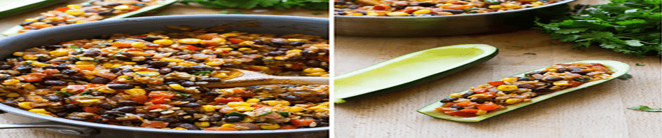 Main image for Recipe of the Week: Mexican Zucchini Boats blog post.