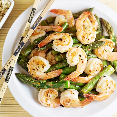 Main image for Recipe of the Week: Shrimp, Asparagus, and Lemon Stir Fry blog post.