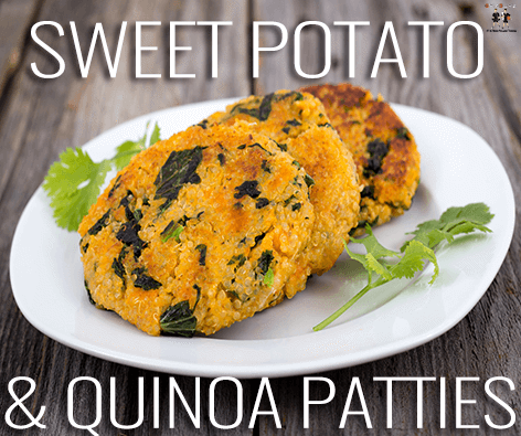 Main image for Recipe of the Week: Sweet Potato & Quinoa Patties blog post.