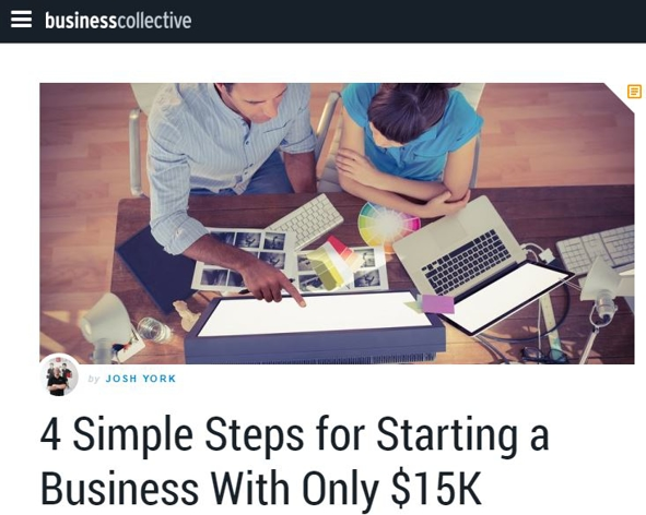4 Simple Steps For Starting a Business With Only $15K